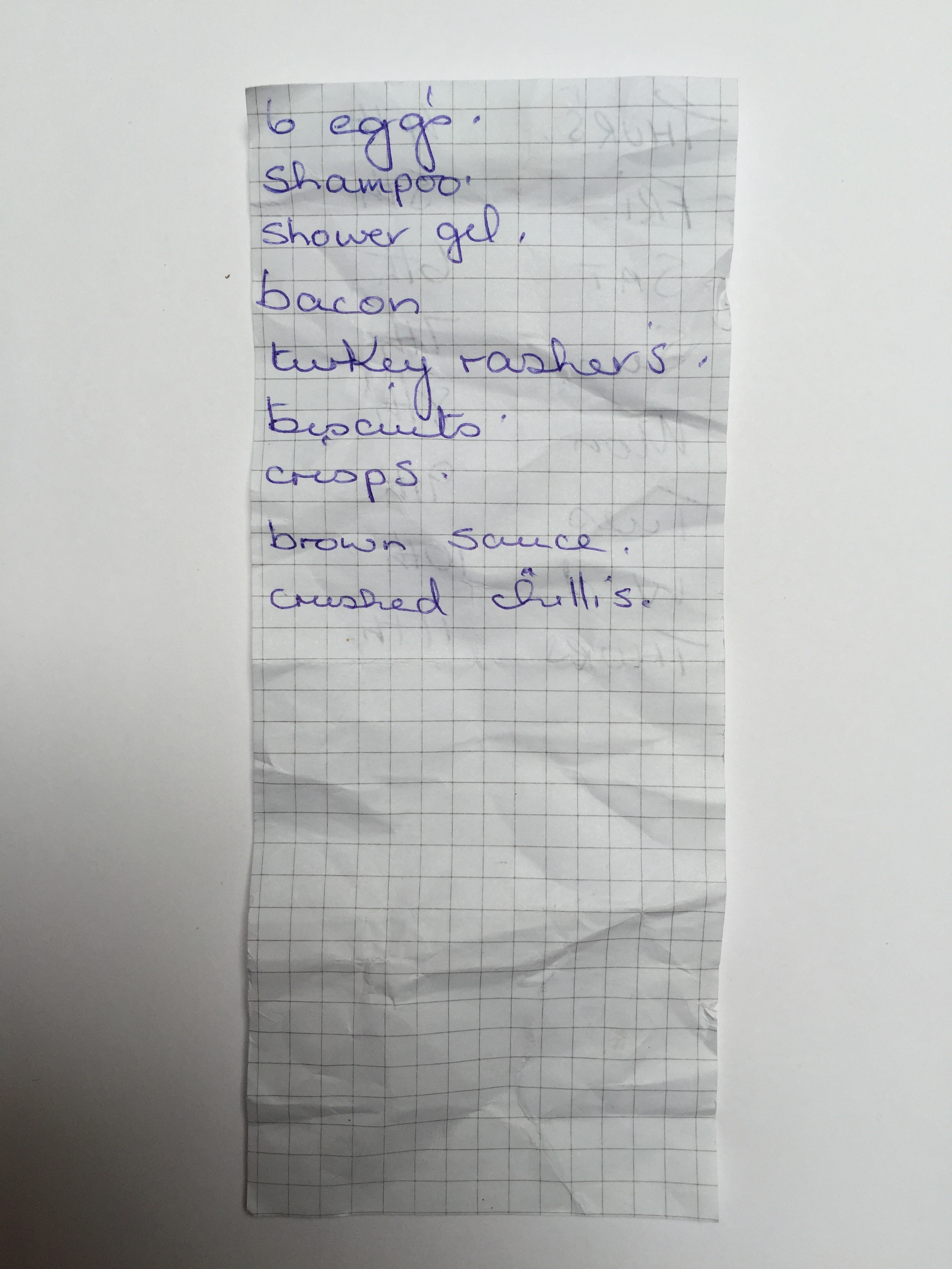 Asda The Shopping Lists A Collection Of Found Shopping Lists